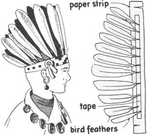 indian headdress template how to make indian costumes diy american