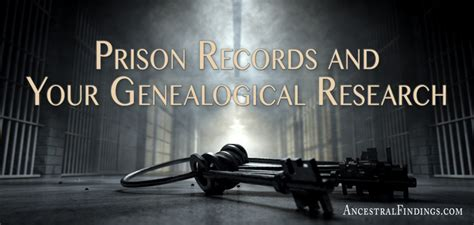 Prison Records Prison Records And Your Genealogical Research Ancestral Findings
