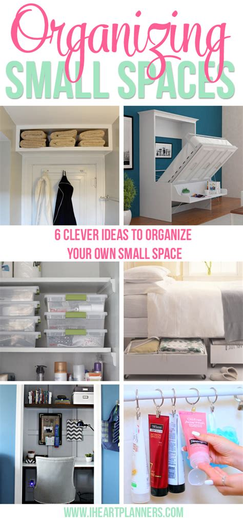 organize a small house organizing small spaces i heart planners