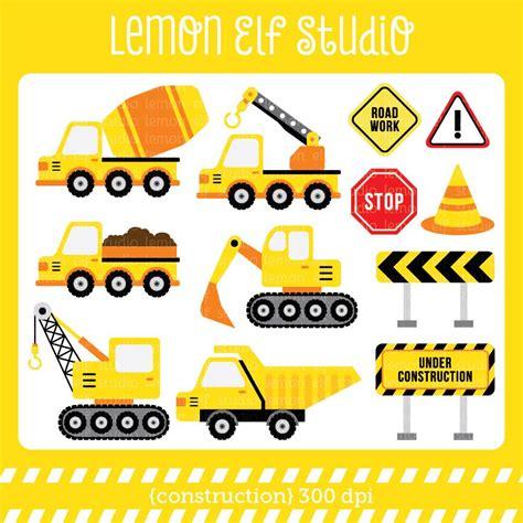 printable elf construction construction digital clipart les cl25a lemon elf studio