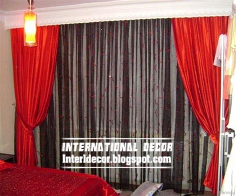 Black And Red Curtains For Bedroom Top 10 Curtain Designs And Unique Draperies Colors Ideas 2017