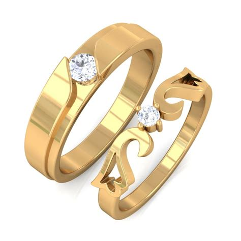Ringe Paar by Esther Engagement Rings For In 10k Gold