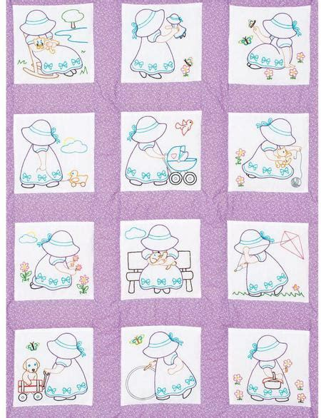 Dempsey Needle Quilt Blocks by Dempsey Needle Sunbonnet Sue Nursery Quilt Blocks Embroidery Kit 300891 123stitch
