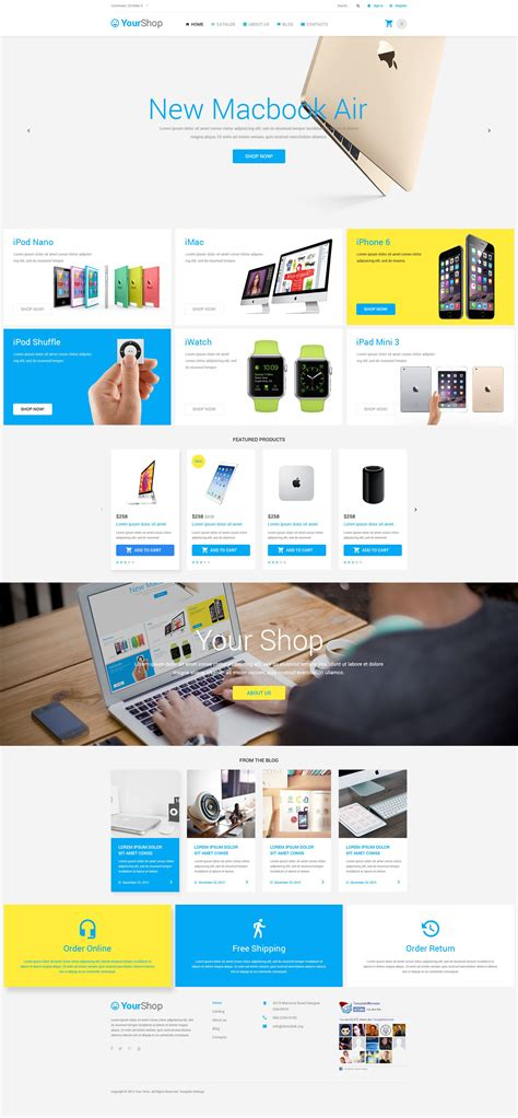 electronic store virtuemart template
