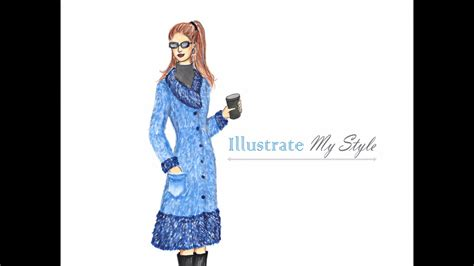 fashion illustration tutorial how to draw a fur coat