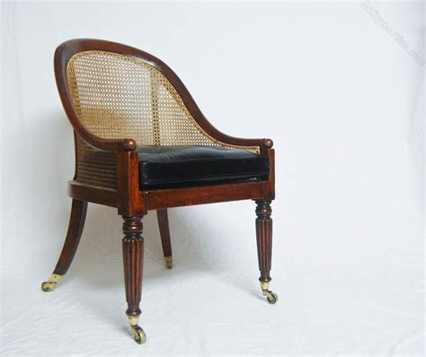 regency chair regency bergere library chair gillows attributed