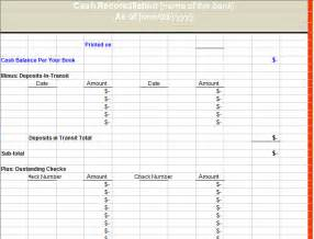 Bank Reconciliation Template Xls by Bank Reconciliation Statement Format Analysis Template