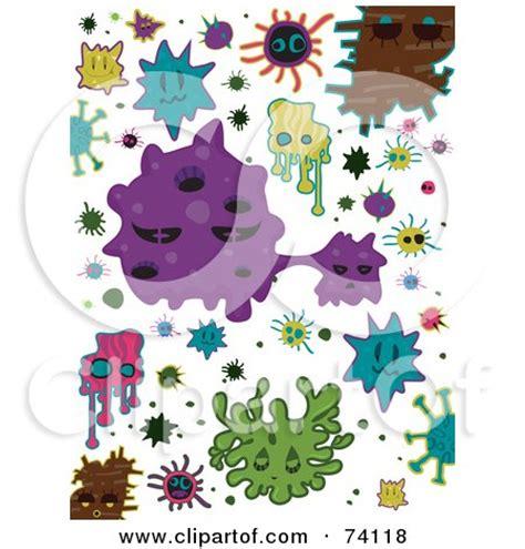 doodle virus clipart of a rhinovirus background royalty free vector