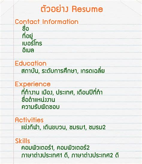 Resume 8nv by อยากเร ยนนอกต องอ าน Cv และ Resume ค ออะไร Dek D