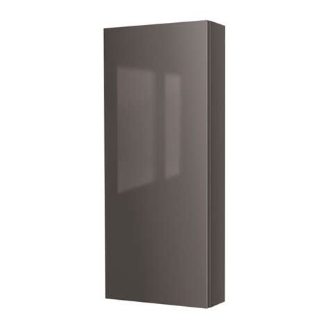 Ikea Bathroom Wall Cabinet Godmorgon Wall Cabinet With 1 Door High Gloss Gray Ikea