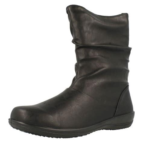 Boot E Sapi 60 damen padders breite passform wadenhohe stiefel indigo ebay