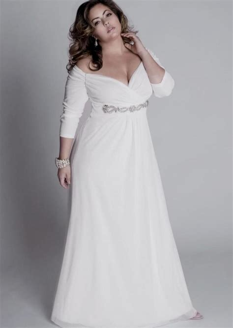 Wedding Informal Dress by Plus Size Informal Wedding Dresses With Sleeves Pluslook