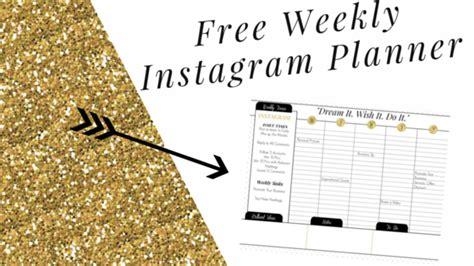 Instagram Weekly Planner Free Printable Calendar Marketing Solved Instagram Post Planner Template