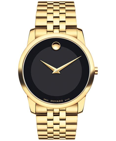 Movado Men's Swiss Museum Classic Gold PVD Stainless Steel
