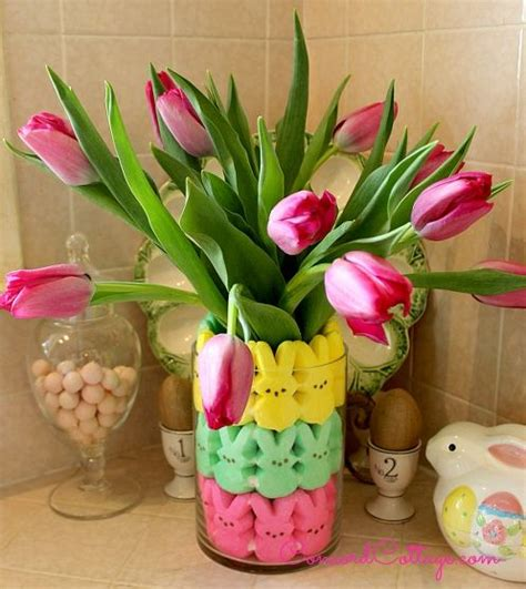 easter arrangements easter peeps floral arrangement