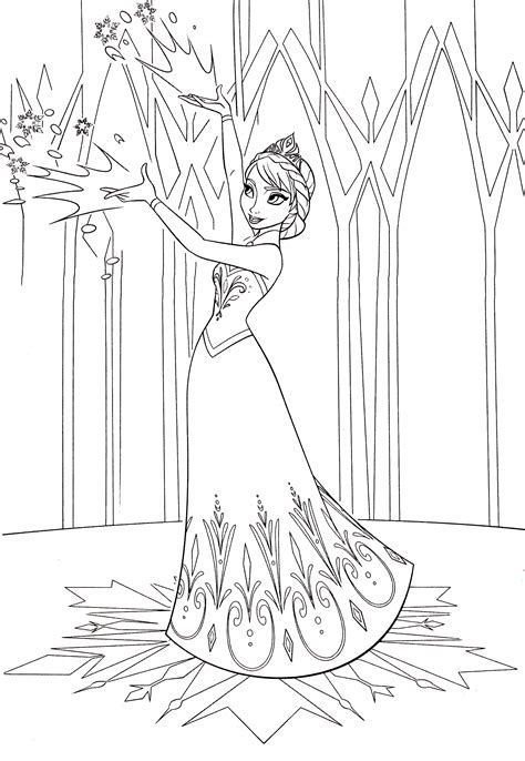 queen elsa free coloring page walt disney characters walt disney coloring pages queen elsa