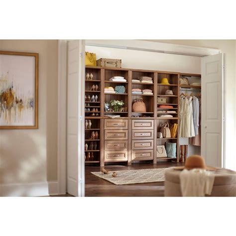 closetmaid closet kit closetmaid impressions 25 in walnut standard closet kit