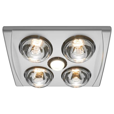Ixl Bathroom Heater Lights Heller 4 X 275w Led Silver 3in1 Bathroom Heater Bunnings Warehouse