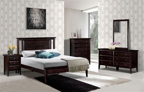 queen bedroom suit bayview 6pc queen bedroom suite in quadra espresso