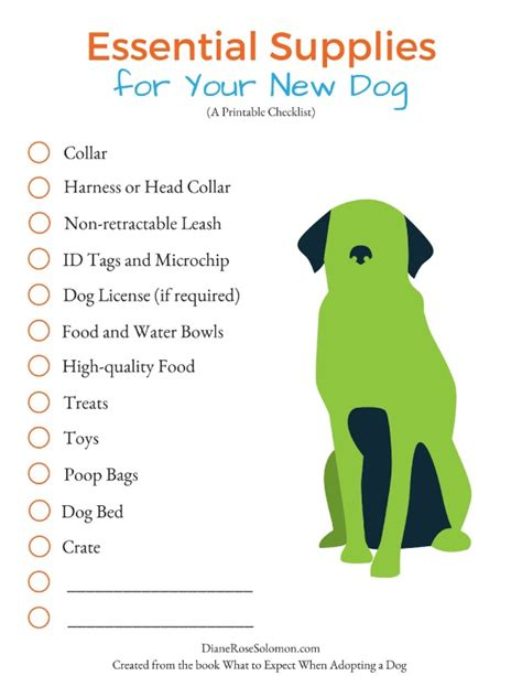 new puppy shopping checklist a shopping list for your new the essentials dianerosesolomon