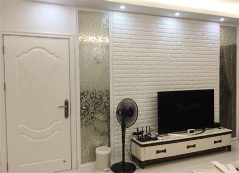 jual wallpaper foam dinding bata putih  white brick
