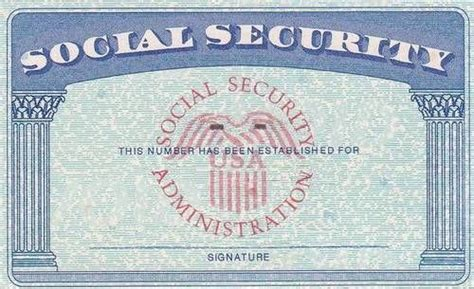 Social Security Card Social Security If Still Working Personal Finance Pinterest Social Blank Social Security Card Template