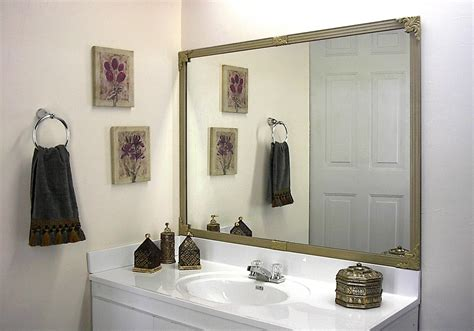 do it yourself framing a bathroom mirror mirredge diy mirror framing kit up to 75 in x 36 in