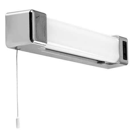 Horizon Chrome 5w Led Bathroom Shaver Light With Pull Bathroom Shaver Light