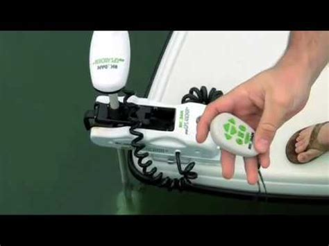 gps electric boat motor trolling motor rhodan marine hd gps anchor ad1 youtube