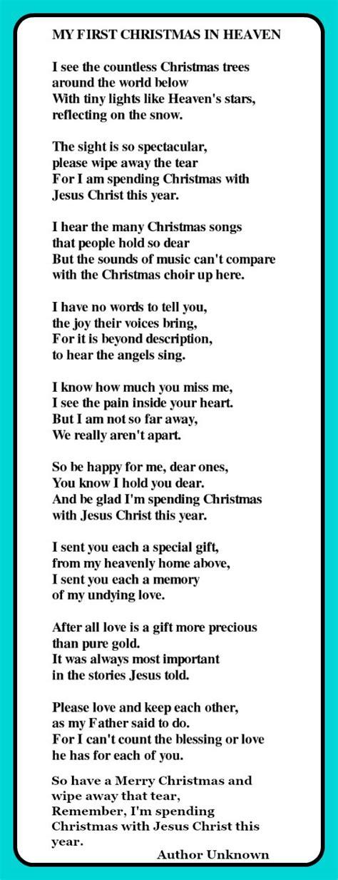 christmas  heaven poem           heaven heaven