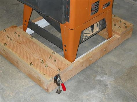 table saw mobile base mobile table saw base ridgid r4511 by john1102
