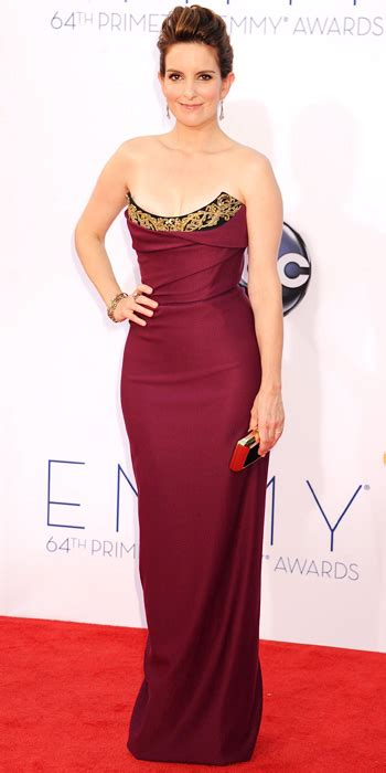 Emmy Trends Strapless by Tina Fey Carpet Arrivals Instyle
