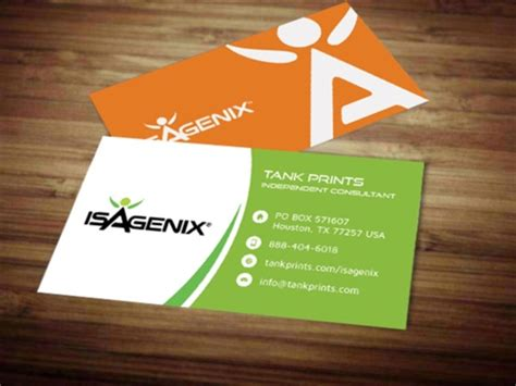Isagenix Business Card Template by Isagenix Business Card Design 7