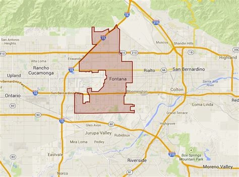 map of fontana ca fontana ca city pictures pictures to pin on