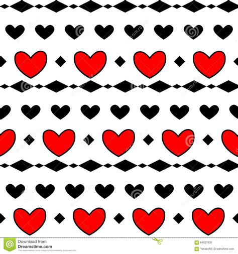 pattern romb vector red heart pattern romb stock vector image 64027630