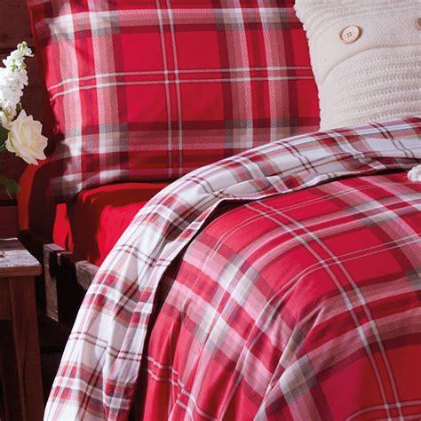 tartan bed linen catherine lansfield home kelso reversible tartan check