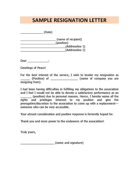 Resignation Letter Immediate Personal Reasons resignation letter format for personal reason document blogs