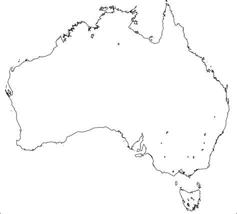 Australian Outline Map by Blank Australia Map Dr