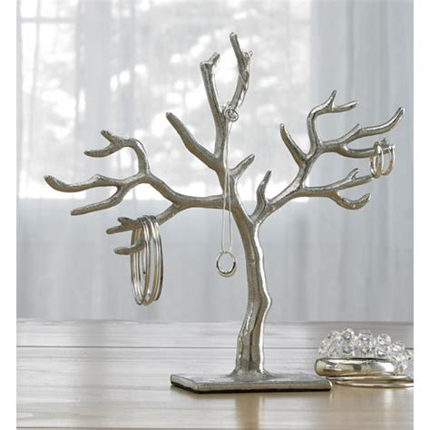 silver bell tree holder kindwer silver 20 branch casted tree of jewelry holder st croix trading