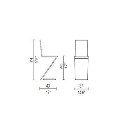 zig zag sedia sedia zig zag in vendita su ciatdesign
