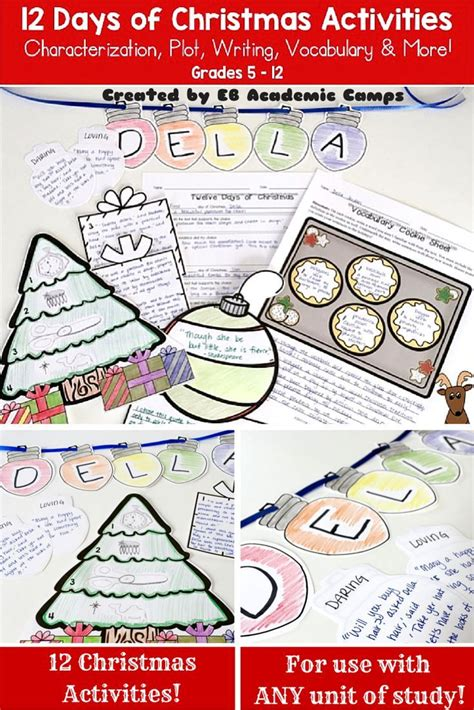 themes for high school english units language art christmas activities festival collections