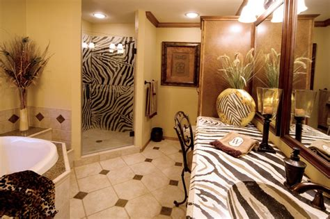 african bathroom decor african bathroom with zebra countertop eclectic