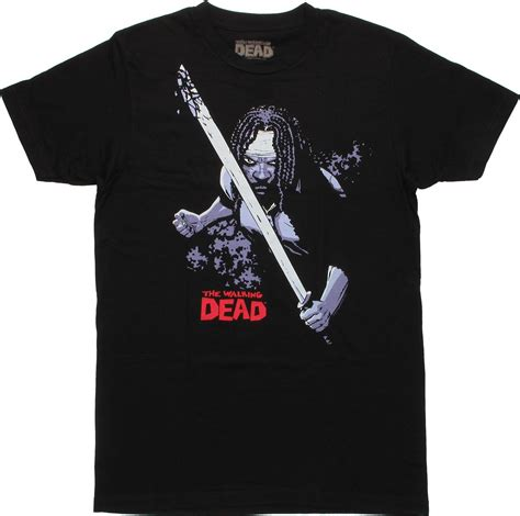 walking dead t walking dead comic michonne t shirt