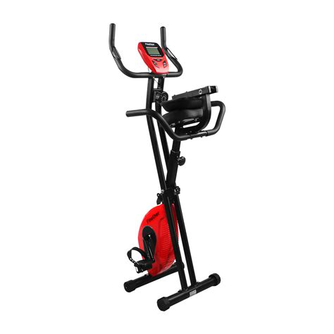 Chair Bicycle Exercise Machine by Foldable Magnetic Upright Exercise Bike Fitness Machine