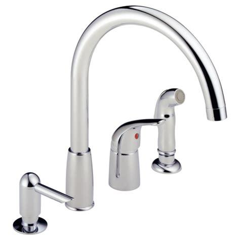 p88900lf single handle widespread kitchen faucet