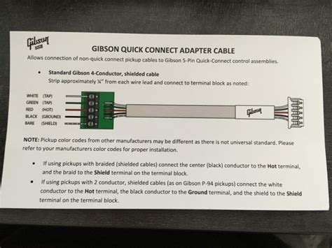 gibson wiring color code free wiring