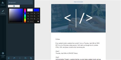 email layout php drag drop email template builder for php by cidcode