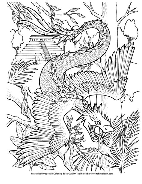 coloring books for boys dragons advanced coloring pages for teenagers tweens boys detailed designs with tigers more stress relief relaxation relaxing designs books quetzalcoatl coloring page by tablynn on deviantart