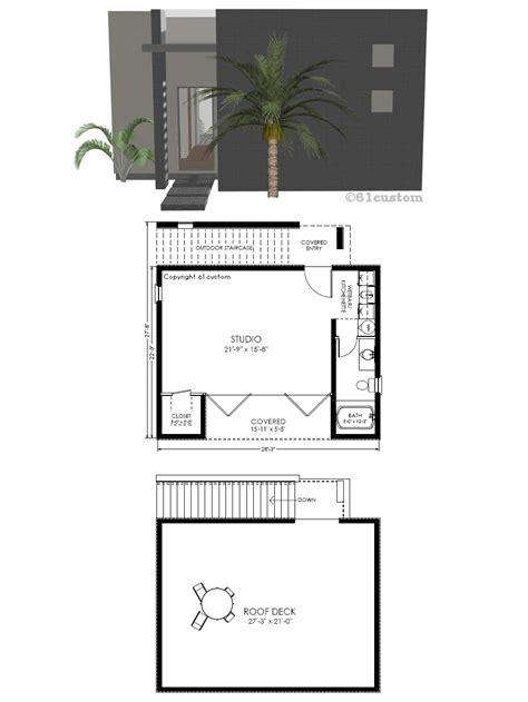studio house plans guest house plan modern studio 61custom contemporary modern house plans