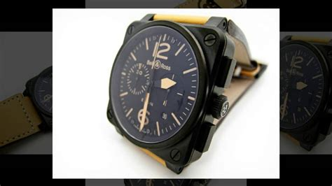 Bellross Br03 94 Black White Brown Leather Bell Ross Br03 94 Heritage Chronograph Limited Edition